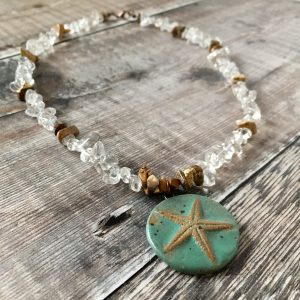 Quartz Starfish Necklace