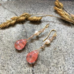Cherry Quartz Dangle Earrings