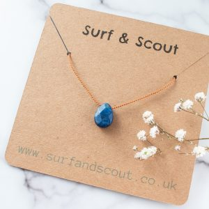 Blue Lapis Cord Necklace